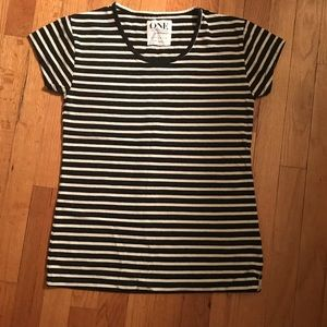 One Teaspoon striped short sleeve tee